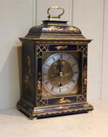 Small Blue Chinoiserie Bracket Clock (2 of 11)