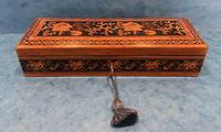 Victorian Satinwood Glove Box With Tunbridge Ware Inlay (6 of 12)