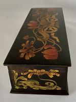 Superb Art Nouveau Pen & Ink Decorated Box (2 of 10)