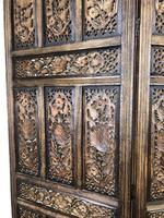 Vintage Indian Hardwood Three Panel Screen Room Divider (8 of 10)