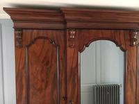 Victorian Mahogany Mirrored Triple Wardrobe (5 of 12)