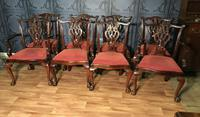 Quality Set of Eight Chippendale Style Dining Chairs