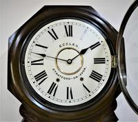 1890 Anglo American Striking Drop Dial Wall Clock (4 of 7)