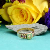 The Antique Victorian 1892 Pearl & Ruby Ring (6 of 6)
