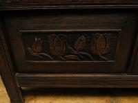 Antique Continental Carved Oak Coffer, Blanket Box, Hall Storage Chest for shoes (11 of 17)