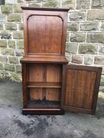 Antique Oak Dining Table Leaf Cabinet (8 of 9)