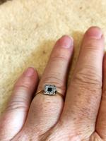 18ct Gold Platinum Art Deco Sapphire & Diamond Ring Size M.5 (8 of 16)