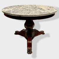 French Empire Marble Top Gueridon Centre Table (2 of 9)
