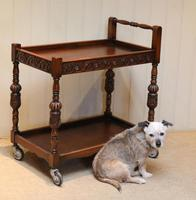 Carved Oak Trolley (9 of 10)