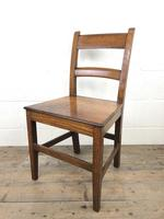 Antique Welsh Oak Farmhouse Chair