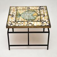1960's Tiled Top Brass Coffee Table (2 of 18)