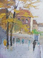 Large Oil on Canvas Notre Dame Artist L Du Bois 1960s (3 of 10)
