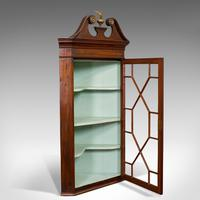 Antique Corner Cabinet, English, Mahogany, Wall, Georgian, Astragal Glaze, 1790 (11 of 12)