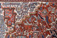 Antique Heriz roomsize carpet 347x246cm (3 of 9)