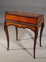 A Small Late 19th Century Satinwood and Rosewood Bureau de Dame (2 of 6)