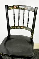 Bentwood Vintage Ebony / Black Floral Print Chair (9 of 9)
