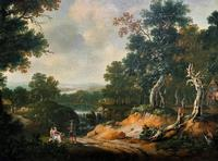 Exceptional Large 1700s Old Master Giltwood Landscape Oil on Canvas Painting (6 of 17)