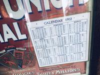 Original 1902  Vintage Framed Poster & Calendar,  Scottish Union & National Insurance Company (2 of 11)