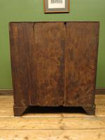 Antique Carved Oak Writing Bureau Desk with Fall Front, Handsome Gothic Piece (11 of 24)