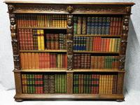 Outstanding Carved Oak Open Library Bookcase (13 of 16)