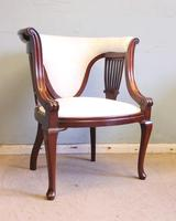Antique Mahogany Occasional Armchair (6 of 7)