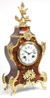 Antique French Shell & Ormolu 8-Day Striking Mantel Clock Rococo Boulle Case Segment Dial Signed (8 of 13)