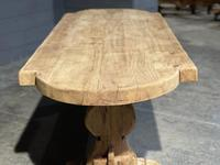 Large Rustic French Bleached Oak Farmhouse Dining Table (9 of 40)