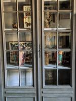 Imposing 19th Century French Glazed & Painted Bookcase Cabinet (4 of 10)