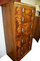 Large Art Deco Six Drawer Chest of Drawers (8 of 12)