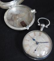 Antique Silver Pair Case Pocket Watch Fusee Lever Escapement Key Wind Silver Huntly & Losstemouth – A SimpsonAntique Silver Pair Case Pocket Watch Fusee Lever Escapement Key Wind Silver Huntly & Losstemouth – A Simpson (5 of 11)