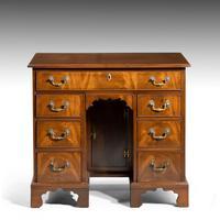 George III Period Mahogany Kneehole Desk (2 of 3)