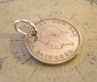 Vintage Pocket Watch Chain Fob 1951 Lucky Silver Sixpence Old 6d Coin Fob (8 of 8)