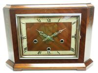 Smiths Art Deco Mantel Clock Triple Chime 8 Day Westminster Chime Mantle Clock. (2 of 8)