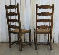 Six Oak & Rush Seated Os De Mouton Dining Chairs (5 of 8)