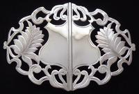 Edwardian Birmingham 1910 Hallmarked Solid Silver Nurses Belt Buckle