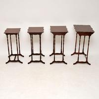 Antique Mahogany Nest of Four Tables (3 of 12)