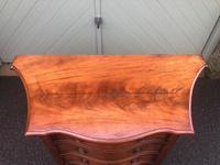 Antique Mahogany Serpentine Chest of Drawers (7 of 11)