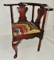 George II Red Walnut Corner Chair (4 of 7)