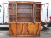 1960s Large Mahogany 4 Door Breakfront Bookcase with Glazed Top (2 of 6)