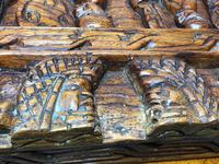 Large vintage Chinese tribal camphor wood carved chest coffee table (2 of 12)