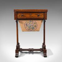 Antique Fold Over Games Table, English, Rosewood, Chess, Cards, Regency c.1820 (2 of 12)