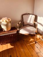 French Antique Chairs / French Salon Armchairs / Pair of Louis XV Chairs / Fauteuils (3 of 10)
