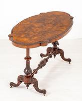 Excellent Victorian Burr Walnut Centre Table (6 of 7)