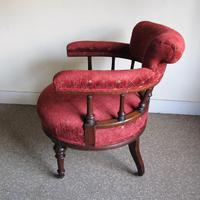 Victorian Walnut Tub Back Chair (4 of 8)