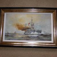 Original Painting of WW1 Battle Cruiser