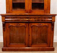 Library Glazed Bookcase Mahogany 19th Century Victorian Display Cabinet (4 of 11)