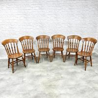 Set of 6 Penny Seat Windsor Kitchen / Dining Chairs (2 of 8)