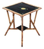 C1900 Bamboo Black Lacquer Occasional Window Table (7 of 8)