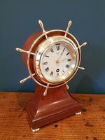Antique Mahogany Ship's Wheel 8 Day Mantel Clock (5 of 5)