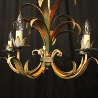 French Polychrome Toleware 5 Light Chandelier (2 of 10)